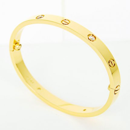 Réplique bracelet love cartier tournevis de diamants or jaune B6035916