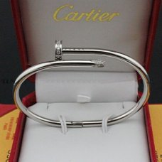 bracelet clou cartier replique or blanc avec des diamants B6037915