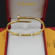 cartier Juste un clou bracelet replique en or jaune pavé de diamants