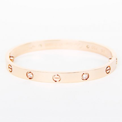 bracelet love cartier replique tournevis de diamants en or rose B6036016
